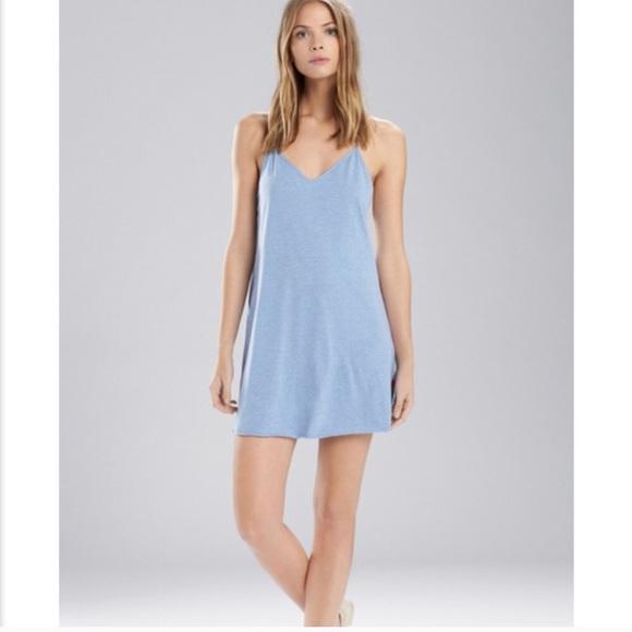 f4d5ed2e57 josie natori blue chemise pajamas slip small nwt